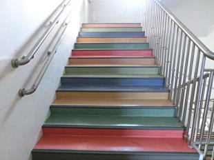 纯色拼接楼梯PVCfun88乐天堂