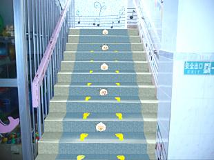 幼儿园卡通楼梯踏步案例